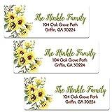 Personalized Sunflower Themed Address Labels - Set of 60 Customized Return Address Labels (AL121)