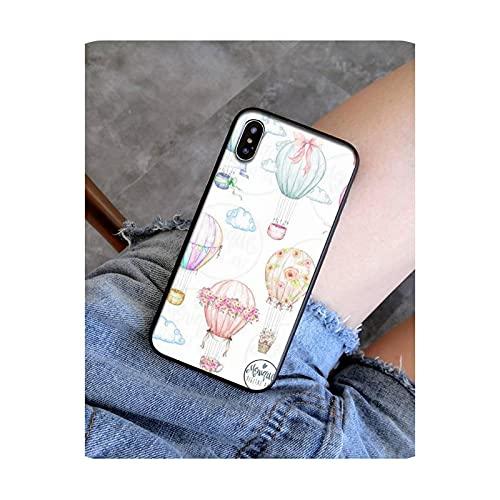 FightLY Funda linda del teléfono del globo del aire caliente de la historieta para el iPhone 11 12 Mini Pro Max X XS MAX 6 6s 7 8 Plus 5 5S 5SE XR SE2020-a13-iphone X XS