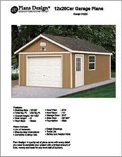 12' X 20' Car Garage Project Plans -Design #51220