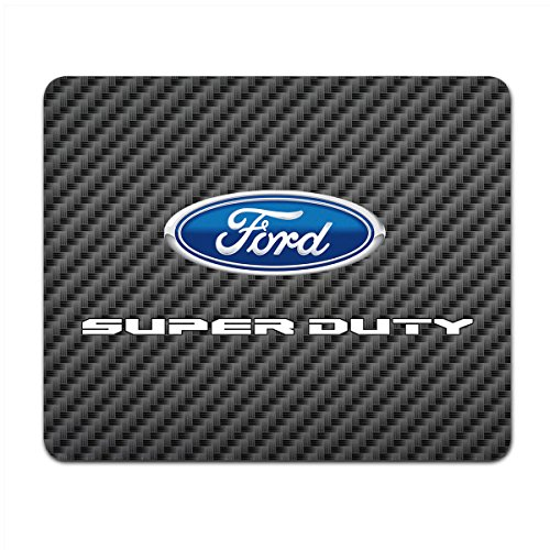 Ford Super-Duty 2016 to 2017 Black Carbon Fiber Texture Graphic PC Mouse Pad, Made in USA