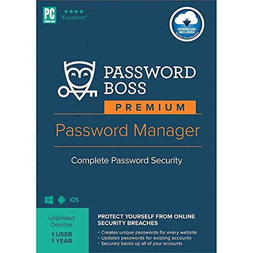 Password Boss Premium Password Manager (1-User) (1-Year Subscription) - Android|Windows|iOS