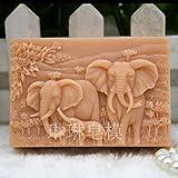 LC Elefant N507Form Craft Art Silikon Seife Form Craft DIY, Seifengießform Kerze handgefertigt