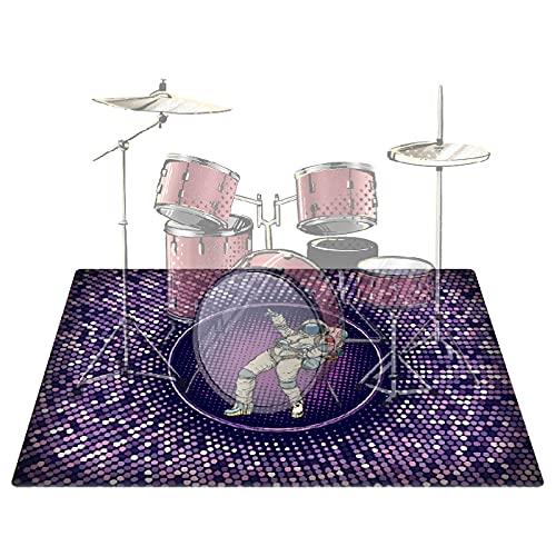PPGE Home Schlagzeugteppich, Drum Teppich, Schlagzeug Teppich, Schallschutzmatte Trommel, Bass Drums Snare Rug, Drums Matte, Elektronische Trommel Jazztrommel Klavier Schallschutz Teppich160x120cm-B