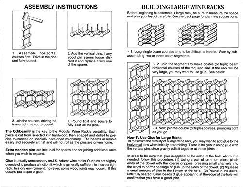 J.K. Adams Ash Wood 12-Bottle Wine Rack, Natural