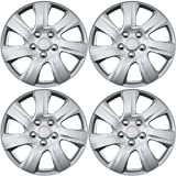 16 inch Hubcaps Best for 2015-2016 Toyota Prius - (Set of 4) Wheel Covers 16in Hub Caps Silver Rim Cover - Car Accessories for 16 inch Wheels - Snap On Hubcap, Auto Tire Replacement Exterior Cap