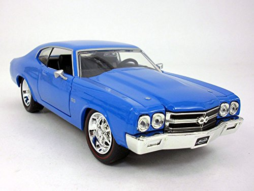 Dub City Chevrolet Chevelle (1970) SS 1/24 Scale Diecast Model - Blue