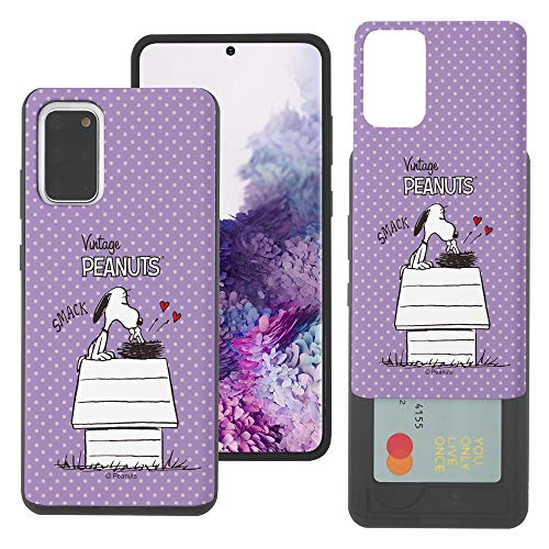 WiLLBee Galaxy S20 Ultra Case Nieuwe PEANUTS Slim Slider Cover : kaart Dual Layer Holder Bumper voor [ Galaxy S20 Ultra (6.9inch) ] Case, Smack Snoopy Vogels (Galaxy S20 Ultra)