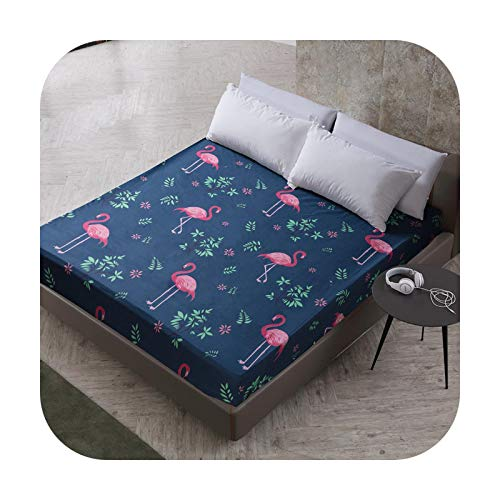 Bedspread New Printing Bed Mattress Cover Mattress Protector Pad Fitted Sheet Separated Water Bed Linens With Elastic 25Cm-7-200X200Cmx25