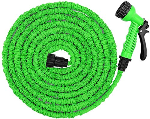 Lidolay 25ft Expandable Garden Hose, Flexible Expanding Water Hose, Strongest Double Latex Core and Fabric, Best Portable Compact Retractable Hose (25)