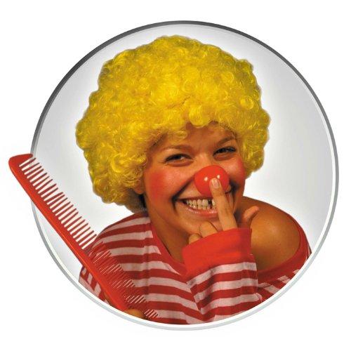 Party Pro Wig Pink Pop Perruque 130109 Jaune, Taille Unique