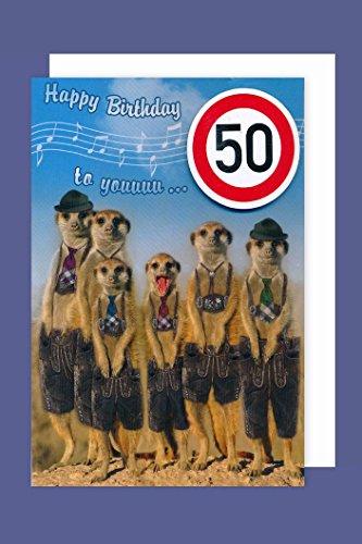 Bayern Grußkarte 50 Geburtstag Karte Humor Applikation Stopschild C6