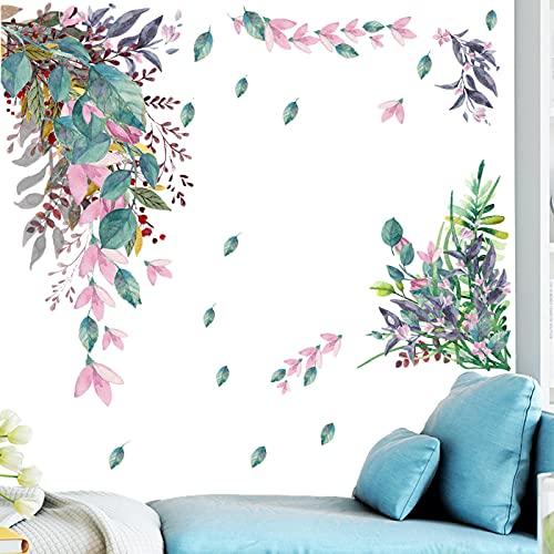 Plantas Tropicales Hojas Verdes Pegatinas De Pared,Tropical Tree Leaves Adhesivos de pared,Hojas Verde Adhesivos Pared de...