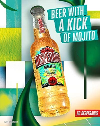 Desperados Mojito Cerveza - Pack de 24 Botellas x 330 ml - Total: 7.92 l