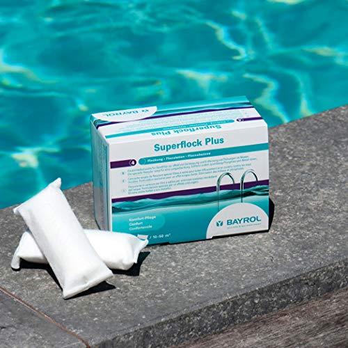 BAYROL Superflock Plus - Flockungs-Kartuschen für kristallklares Wasser, entfernt feinste Schmutzteilchen im Pool