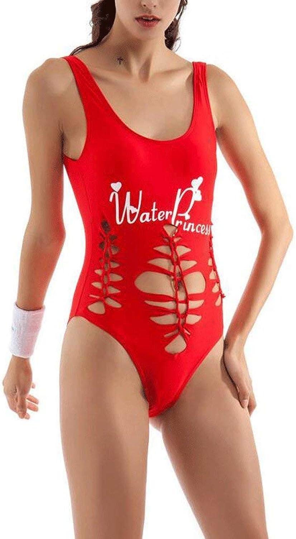 MARCU Home Badeanzug Alphabet Druck Stückchen Weste Weste Weste Shorts Bikini (Farbe   rot, Größe   Medium) B07MS1SLQM  Sonderkauf 056188