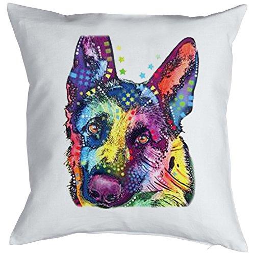 German Shepherd Pillow, oreiller, almohada, Cuscino Pop Art Style