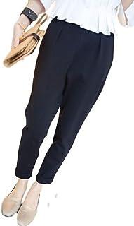 [ニブンノイチスタイル] 1/2style 黒 おしゃれ かっこいい ビジネス 仕事 美脚 パンツ レディース