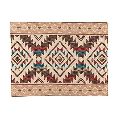Collections Etc Southwest Geometrische Aztekenkissen mit Tribal-Muster Bordüre – dekorativer Schlafzimmer-Akzent