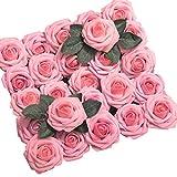Transwen 50 Rosas Artificiales, Bricolaje, Ramo de Flores