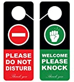 Do Not Disturb Door Hanger Sign, 2 Pack, Double Sided, Ideal for Using in Any Places Like Offices, Clinics, Law Firms, Hotels or During Therapy, Spa Treatment, Counseling Sessions…