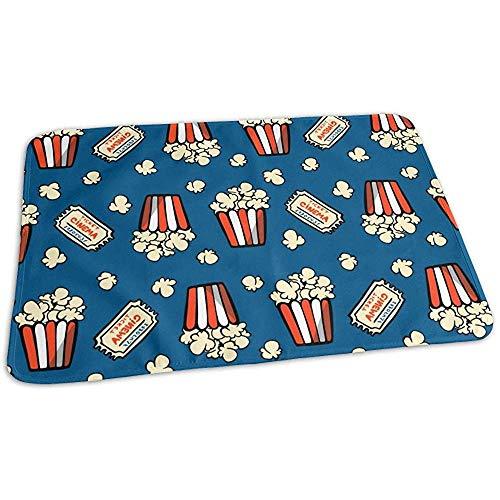 Matelas À Langer Bebe,Popcorn Et Film Ticket Funny Élégant Couches À Langer Pads Pour Todller Crib Voiture 50x70cm