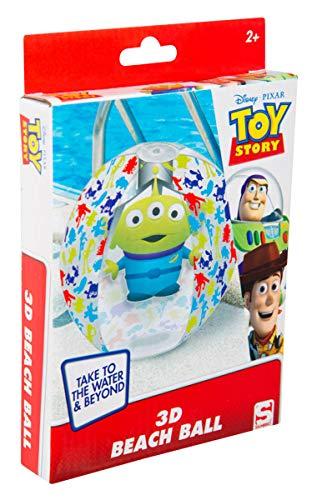 Pelota de Agua Sambro DTS-3396 con Efecto 3D, Aprox. 45 cm Toy Story Diseño con Alien para niños a Partir de 2 años con válvula de Seguridad, Ideal para Piscina, Playa y Piscina, Multicolor