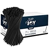 Coffee Stirrers Sticks, Disposable Plastic Drink Stirrer Sticks, 1000 Stirrers Per Pack, Use It As A Coffee Straws Or A Cocktail Mixers Black, 7 1/2-Inch (Pack of 2)