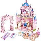 CubicFun 3D Pink Princess Doll House Puzzle con Pegatinas y Muebles de...