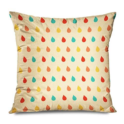 WH-CLA Couch Cushions Repetir Gráfico Diseño Colorido Gotas De Niña Sin Costuras Naturaleza Texturas Textil Color Clima Cojín Funda De Almohada Ropa De Cama 45X45Cm Fundas De Almohada Im
