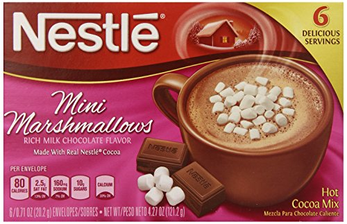 Nestle Hot Cocoa Mini Marshmallows Mix 071 Ounce 6 Count Pack of 12