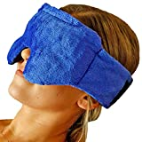 Huggaroo Microwavable Warm Compress & Cooling Gel Eye Mask for Migraine Headache, Sinus Relief, Dry or Puffy Eyes, Stye, Blepharitis, Chalazion – Weighted Sleep Mask with Lavender Aromatherapy