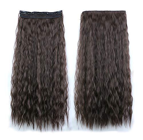 Nouvelle Arrivée COUNTSTAR Cheveux FriséS Pour Femmes,Perruque SynthéTique Grise OnduléE, Pleine Perruque Brune Naturelle
