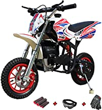X-PRO Cyclone 40cc Kids Dirt Bike Mini Pit Bike Dirt Bikes Motorcycle Gas Power Bike Off Road (Red)