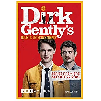 Weitaian Dirk Gently S Holistic Detective Agency Season 1  2016  Tv Poster and Prints Wall Decor for Living Room Office Decor Unique Artwork Printing Canvas-20X30 Inch No Frame