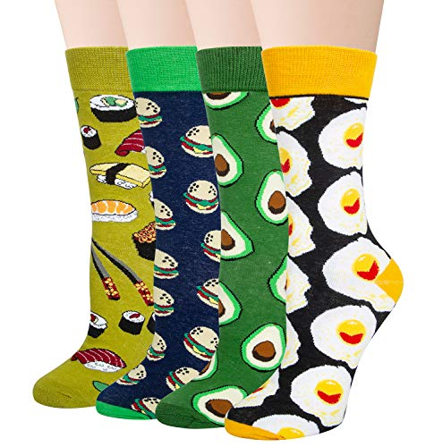 Chalier Herren Bunte Lustige Socken, Verrückte Socken Modische Mehrfarbig Klassisch als Geschenk, Neuheit Crew Socken