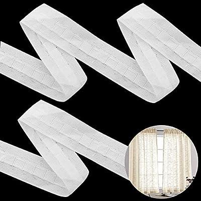 ❣Embalaje: una cinta para cortinas de unos 2,5 cm de ancho y unos 30 metros de largo, que se utiliza para amasar, confeccionar u otros tipos de cortinas. ❣Uso: Muy adecuado para fabricar productos de decoración del hogar, como cortinas, paños para co...