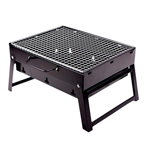 BBQ grill Mini charcoal barbecue grill for household outdoor barbecue foldable portable disposable BBQ stove outdoor steel stove (color: s)