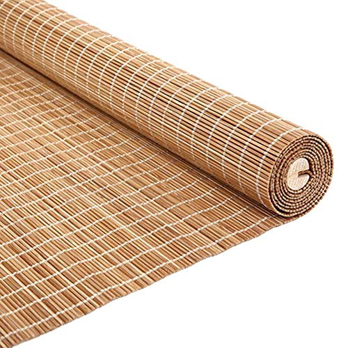 JIAYUAN rolgordijnen bamboe rolgordijnen rolgordijnen 55% UV-bescherming ovaal lichtfilter jaloezieën rolgordijnen vouwgordijnen