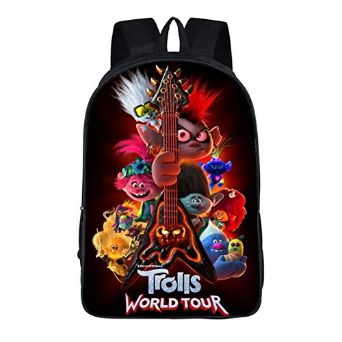 GD-Tshirts Kids Trolls Backpack-Boys Girls Back to School Bookbag Lightweight Bag-Backpacks for Travel,Outdoor