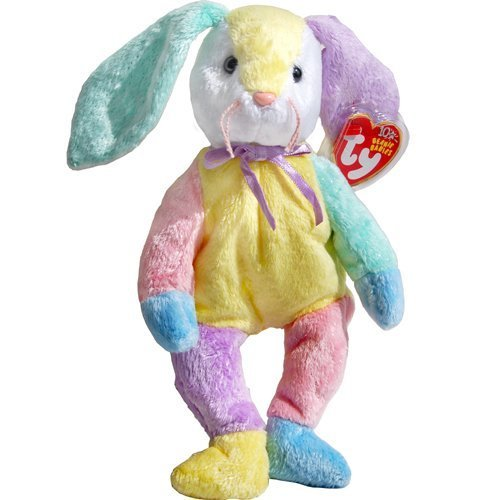 Dippy the Patchwork Easter Bunny Rabbit - Ty Beanie Babies by Beanie Babies - Rabbit