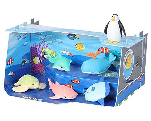 Iwako Craft House - Juego de gomas de borrar para acuario japonés, diseño de animales marinos
