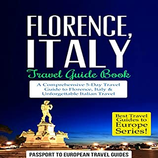 Florence, Italy Travel Guide Book cover art