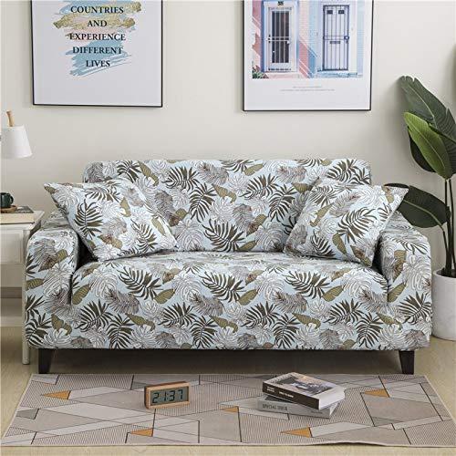 PPMP Funda de sofá elástica Floral Fundas de sofá para Sala de Estar Protector de Muebles de poliéster Fundas Funda de sofá A19 1 Plaza