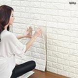 3d Brique papier peint, Blanc Brique Motif stickers muraux, automatique adhésif...
