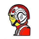 Luke Skywalker Star Wars Rebel Helmet X-Wing Collectible Pendant Lapel Hat Pin