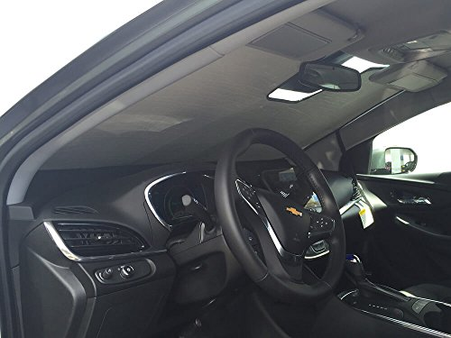 HeatShield, The Original Windshield Sun Shade, Custom-Fit for Chevrolet Volt Sedan w/Sensor 2016, 2017, 2018, 2019, Silver Series