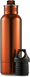 BottleKeeper OR01 1.0 The Original Stainless Steel Bottle Holder and Insulator to Keep Your Beer Colder, 12 oz, Orange