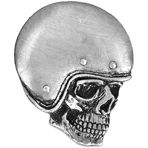 Hells-Design Anstecknadel Biker Skull Totenkopf