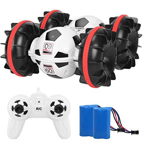 Ferngesteuertes Auto 360 Cross, 4WD RC Car 2.4 Ghz Technologie Wasserdicht RC Stuntauto Rennauto ferngesteuert Spielzeug Stunt Autos für Kinder Jungen Mädchen Outdoor Indoor 6-18 Jahre (White)