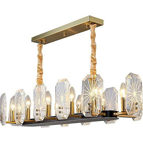 UWY Lámpara de araña Rectangular Luz Moderna Lámpara Colgante de Cristal de Lujo Luz de Techo LED de Montaje Empotrado para Dormitorio, Sala de Estar, Comedor, Pasillo, Cocina